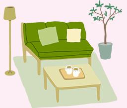 床がフローリング素材(木材)のお部屋は敷物を敷いて生活しましょう